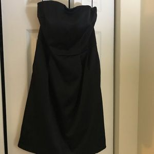 Express Strapless Black Dress